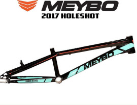 meybo race bmx frame holeshot 10mm 2017 black turquoise orange